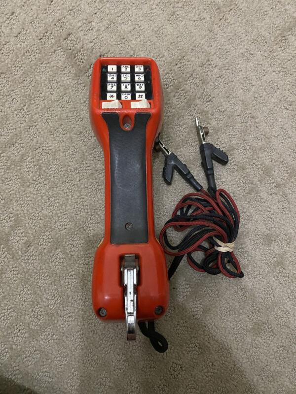 Harris Dracon TS21 Test Set Lineman Test Phone Handset Yellow Orange