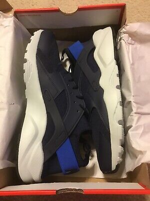 d4432e8320fe7 New Nike Air Huarache Run Ultra Obsidian Signal Blue Shoes 819685-412 Mens  Sz 11