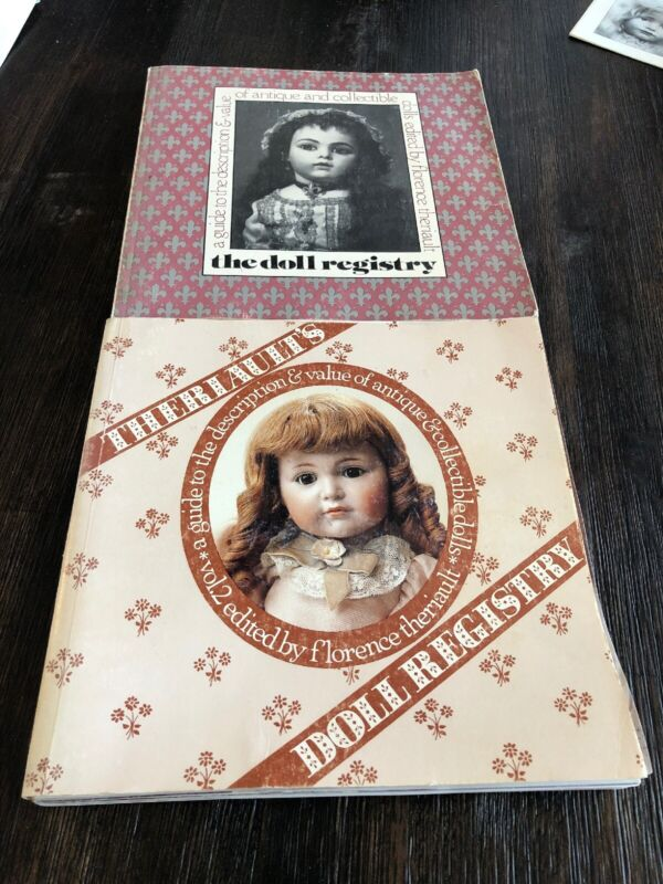 Lot of 2 THE DOLL REGISTRY REFERENCE BOOK BY FLORENCE THERIAULT Signed