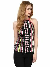 Women's Top - Multi-Coloured Crepe - Sleeveless Top - by Harpa