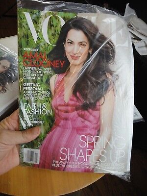 Vogue May 2018 Amal Clooney Free & Fast SHIPPING   BEGGIN YOU BUY MINE for sale  Spring Hill