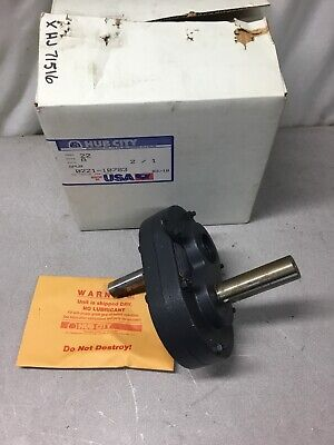 New Hub City Model 22 Style A Parallel Shaft Drive Speed Reducer Ratio 21