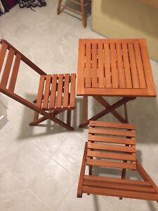 Small Teak patio set