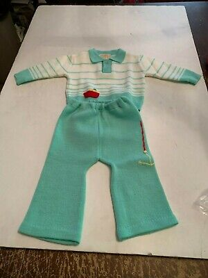 Used, Vintage Baby Clothes 9 Months by Novelty Knit 2 Piece  for sale  Shipping to India