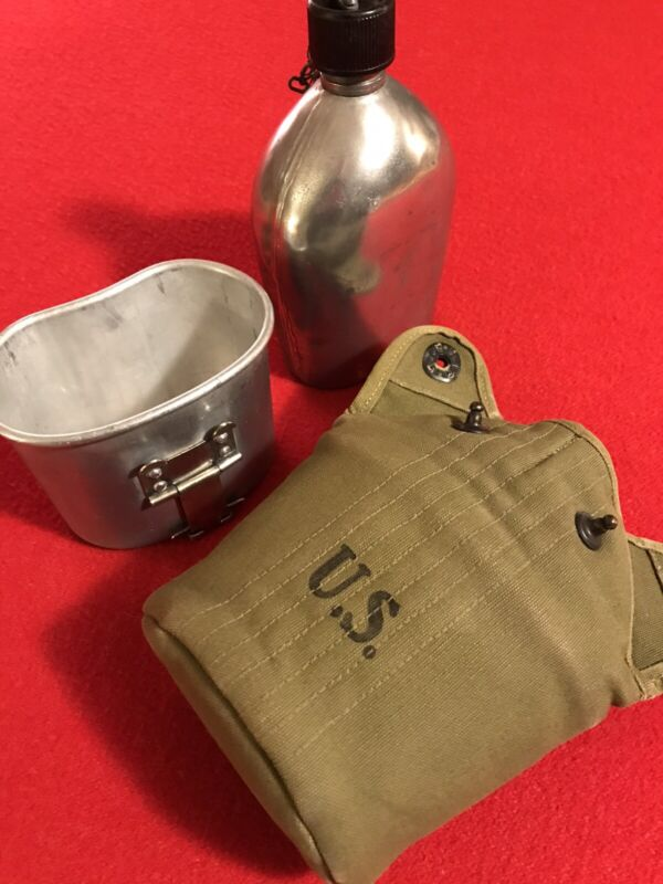 "Pre-WW2 Canteen Set ""Rear Seam""! (""ATLANTIC PRODUCTS CORP. 1941"") NOS Unissued!!"