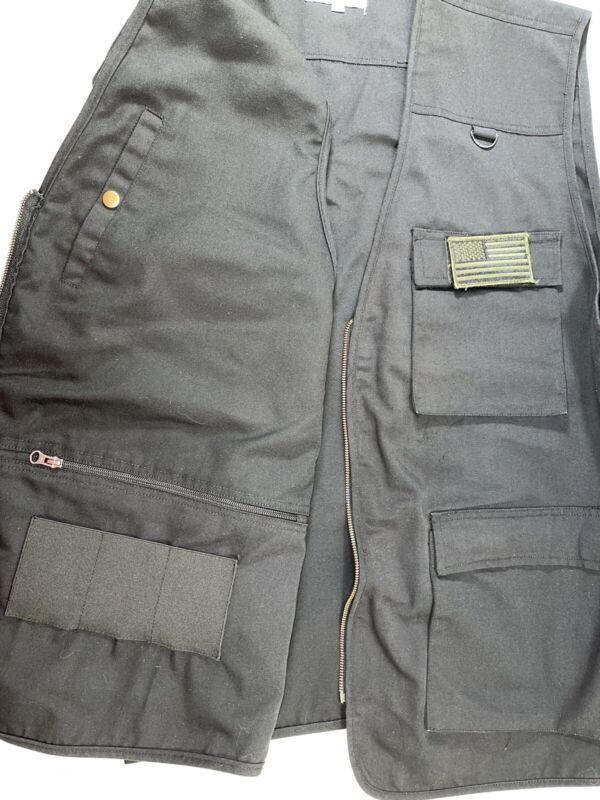 Concealed Carry Vest 6XL Blue Stone Safety Men's Flag Black Conceal Carry 6X