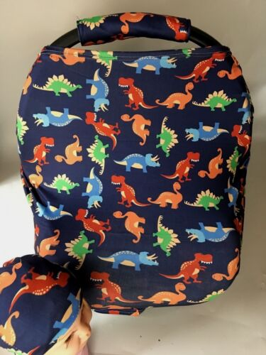 Stretchy Car Seat Canopy Multi Use Cover Baby Beanie Carrying nursing cover...