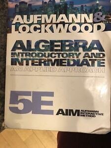 Algebra Introduction and Intermediate