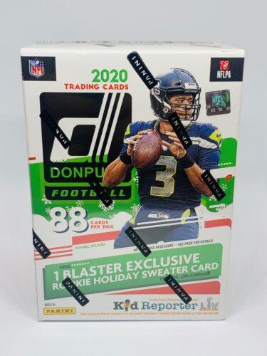 2020 Panini Donruss Football NFL Holiday Blaster Box 88 Cards Prizm New Sealed