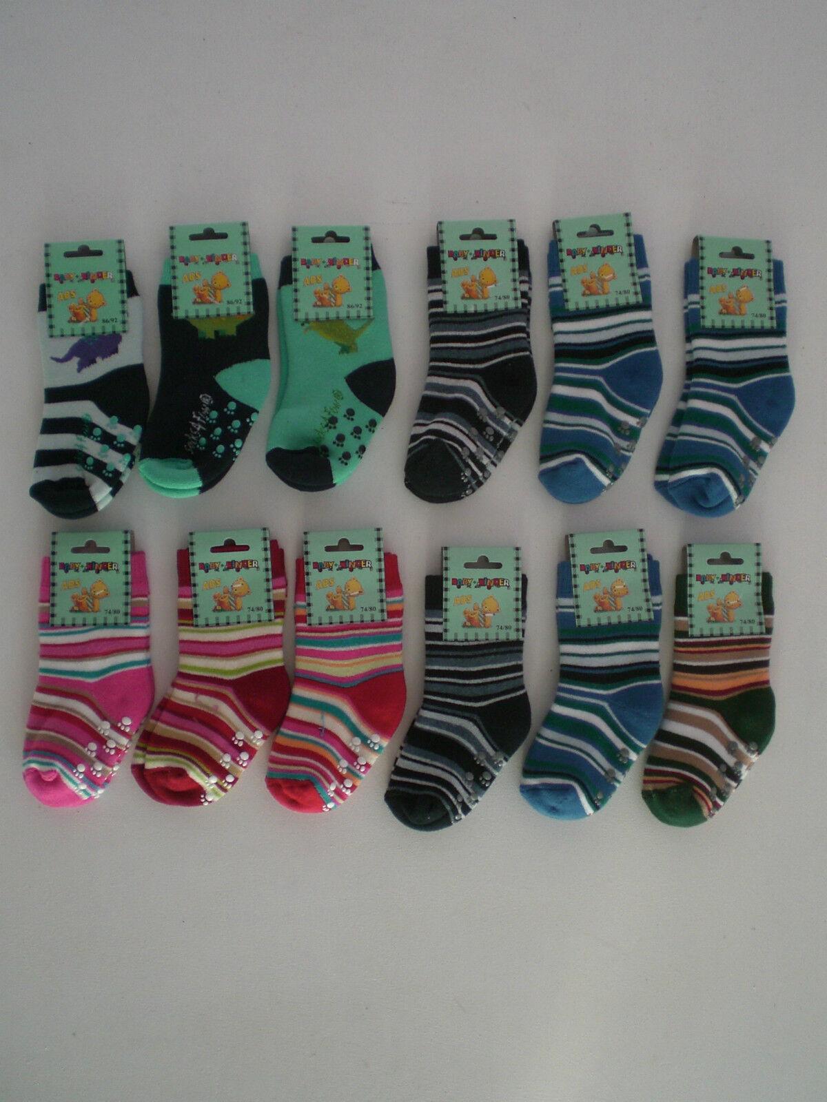 3 Paar ABS Baby Söckchen Stopper Socken 74-80 86-92 98-104 Jungen Mädchen Kinder
