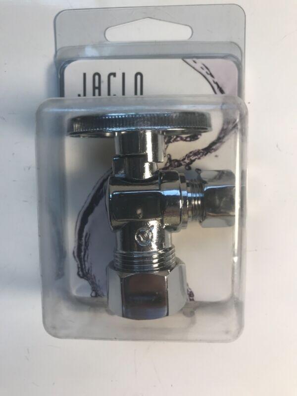 NEW Jaclo 621-8-PCH 1/4 Turn Angle Pattern 5/8 O.D. Comp x 3/8 OD Supply Valve