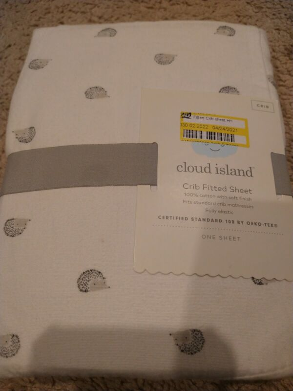 Crib fitted  Sheet Cloud Island 100% Cotton
