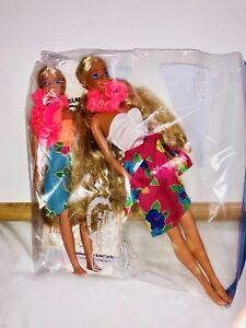 Mattel 1987 ISLAND FUN BARBIE and Skipper Never Played With