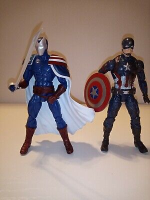 "Marvel Legends 6"" Civil war 3 pack Captain America & Citizen V action figure lot"