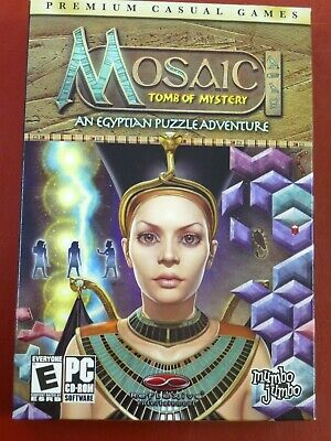 Video Game PC Mosaic Tomb of Mystery Egyptian Puzzle Adventure NEW SEALED BOX