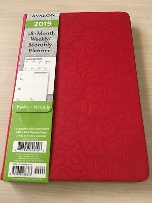 2018-2019 Avalon 18-month Weeklymonthly Calendar Planner Appointment Book Red