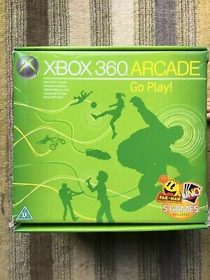 Xbox 360 Arcade 256Mb Console (light wear on box) - UK Release Factory Sealed!