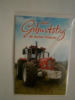 Grußkarte zum Geburtstag Traktor 11,8 x 17,3 cm