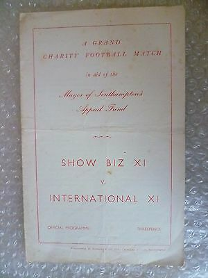 1964 SHOW BIZ XI v INTERNATIONAL XI, 2nd Nov (Charity Match)