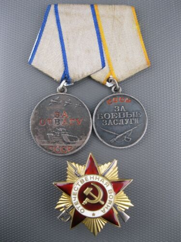 Silver Order Patriotic War 1class FOR BRAVERY COURAGE Combat Service USSR WWII