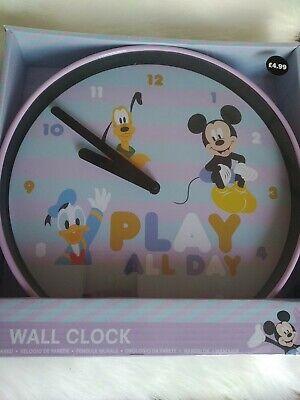 Disney wall clock Play All Day New Sealed