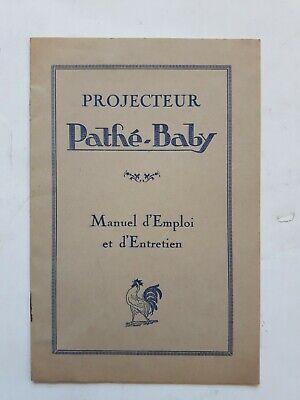 VINTAGE PATHÉ-BABY MANUEL PROJECTEUR COMPLET 12 PAGES ANNEES 1920? 12.3X18.3CM