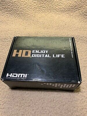 HDMI to Composite or S Video Converter Open Box New Condition