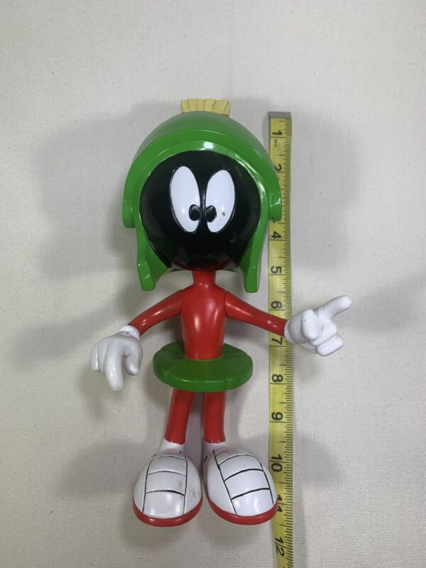 VINTAGE RARE 1998 MARVIN THE MARTIAN Warner Bro Looney Tunes Used Toy Figure 10""