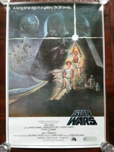 Original Vintage Poster Movie Print Star Wars 1977