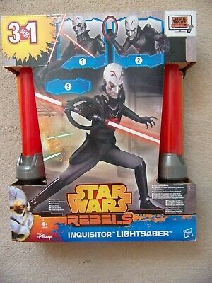 Star Wars INQUISITOR LIGHTSABER Rebels Toy 3 in 1 New and Sealed Hasbro