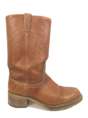 Acme Brown Leather Square Toe Cowboy Work Boots Men's Size 10.5 D - USA Made