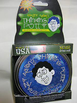"Tidal Wave blue with Magnet Magnetic Crazy Aaron's Thinking Putty New lg 4"" tin"