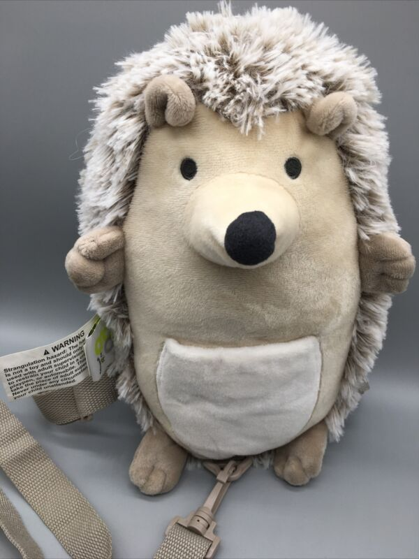 GO BY GOLDBUG Safety Traveling Plush Hedgehog Harness Buddy Tan Tether Strap B7