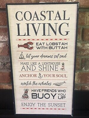 Coastal Living Anchor Sail Beach Nautical Outdoor Pool Ocean Plaque Decor ()