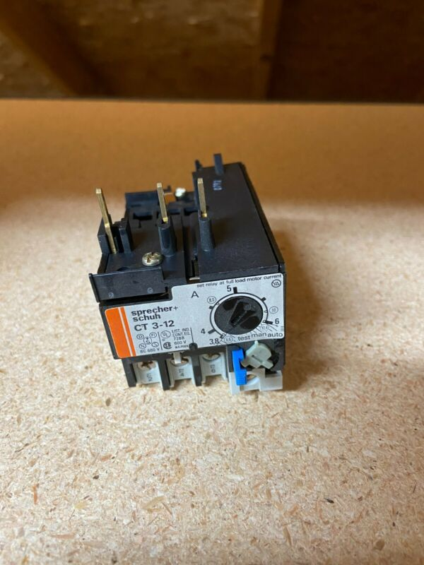NEW Sprecher & Schuh CT3-12 Thermal Overload Relay 3.8-6.0A 600V