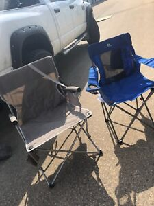 Two camping chairs 20$