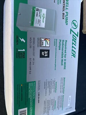 34 Hp Zoeller Well Pump Control Box For 3-wire Submersible Well Pumps 1010-2337
