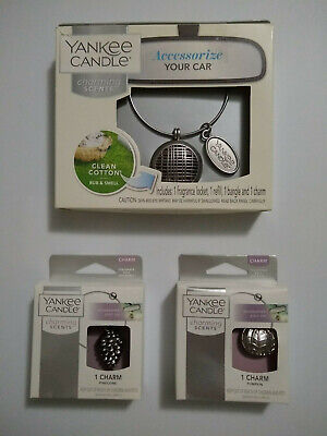 3 YANKEE CANDLE 'CHARMS' - 3 CHARMS FOR YOUR CHARMING SCENTS CAR AIR FRESHENER