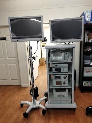Stryker 1488 Hd Dual Monitor Endoscopy Tower Or Camera