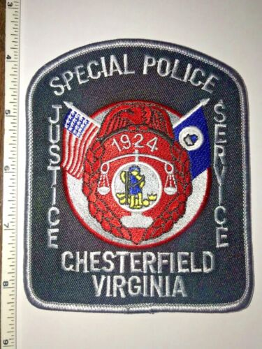 Chesterfield Virginia Special Police Shoulder Patch New