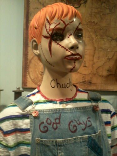 CHUCKY GOOD GUY DOLL LIFE SIZE STATUE  MANNEQUIN HALLOWEEN PROP