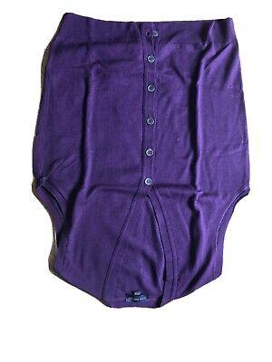 john smedley Mens Purple Woolen Waistcoat Size M