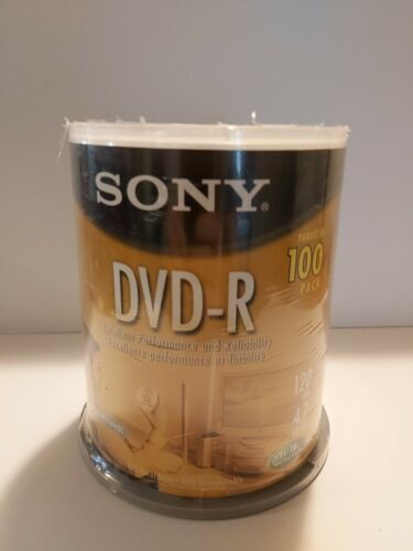Sony 16X 4.7GB DVD-R Recordable Blank Disc 100-Pack on Spind