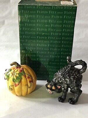 Fitz and Floyd Halloween Harvest Salt and Pepper Shakers - Fitz And Floyd Halloween Harvest