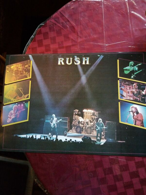 RUSH LIVE ON STAGE POSTER