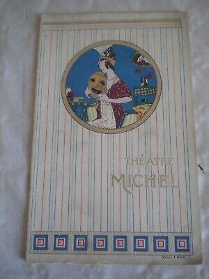 Vintage Programme Theatre Michel paris 1911 art deco cover rabajoi