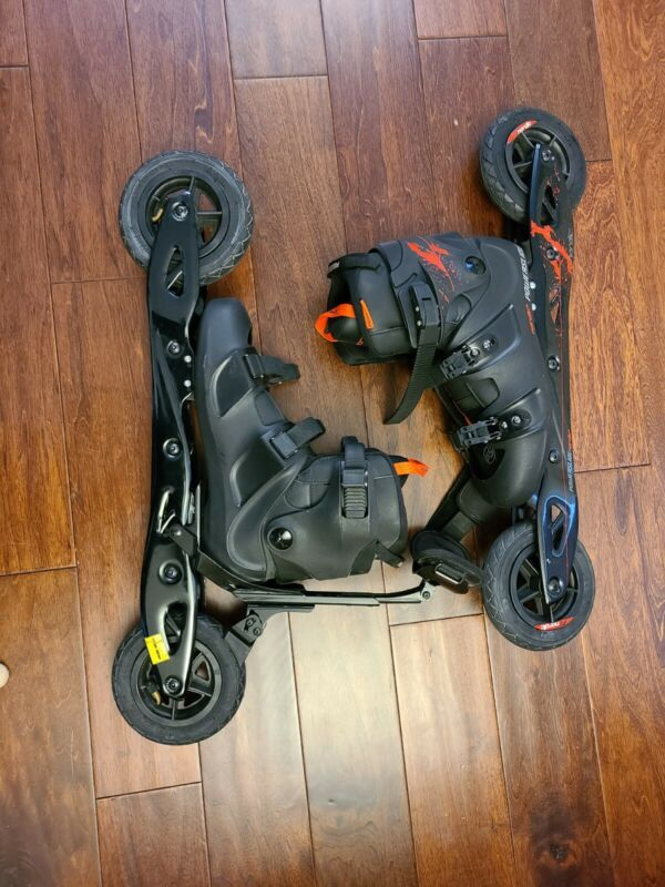 Powerslide Nordic Skate, Size US 12.5 Carry Bag Spare Tires