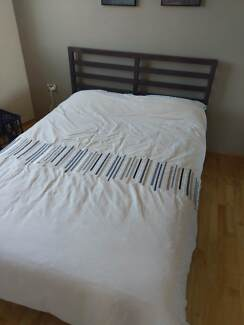 Double Bed & Mattress, barely used as spare bed, smoke