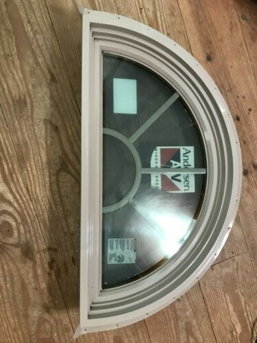 Andersen 400 series Circle Top Narroline Arched window LO-E Sandstone