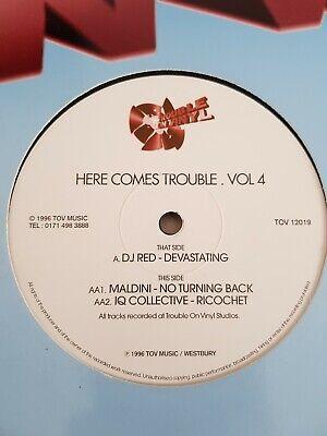 DJ RED MALDINI IQ COLLECTIVE - HERE COMES TROUBLE VOL 4 - TOV12019 - RARE